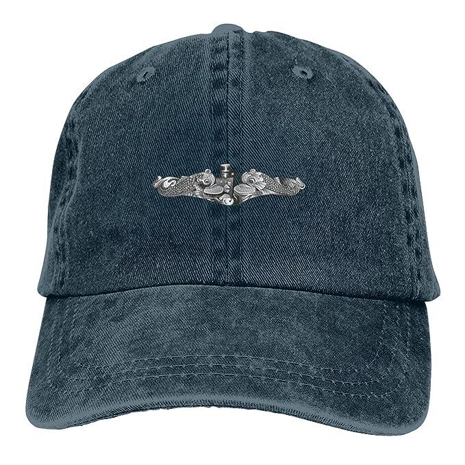 5b018f1da SISA US Navy Submarine Insignia Unisex Denim Cap Baseball Hat Adult ...
