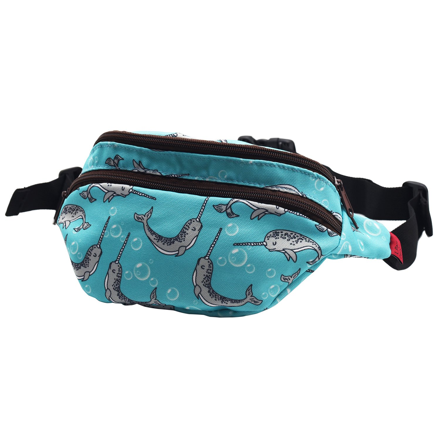 LParkin Narwhal Gifts Idear Fanny Pack Hip Bag Waist Bag Canvas Bum Belt Hip Pouch Bags