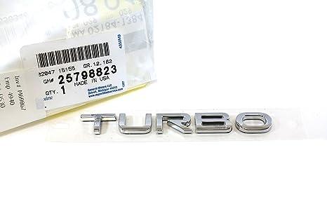 OEM NEW Rear Trunk Lid Turbo Emblem Nameplate Chrome 07-10 Saturn Sky 25798823