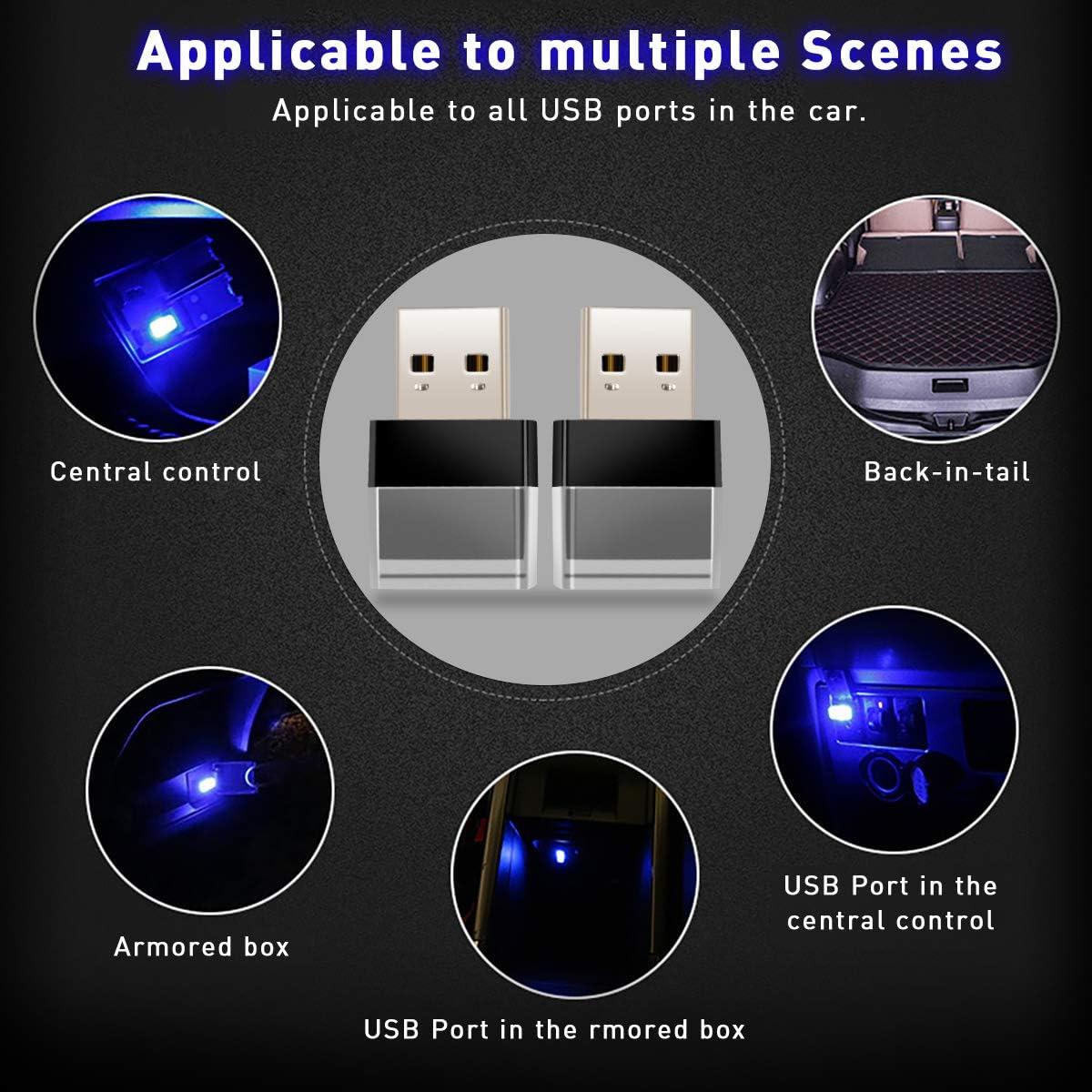 Lighting & Electrical KFZMAN DC5V Car USB LED Atmosphere Light ...