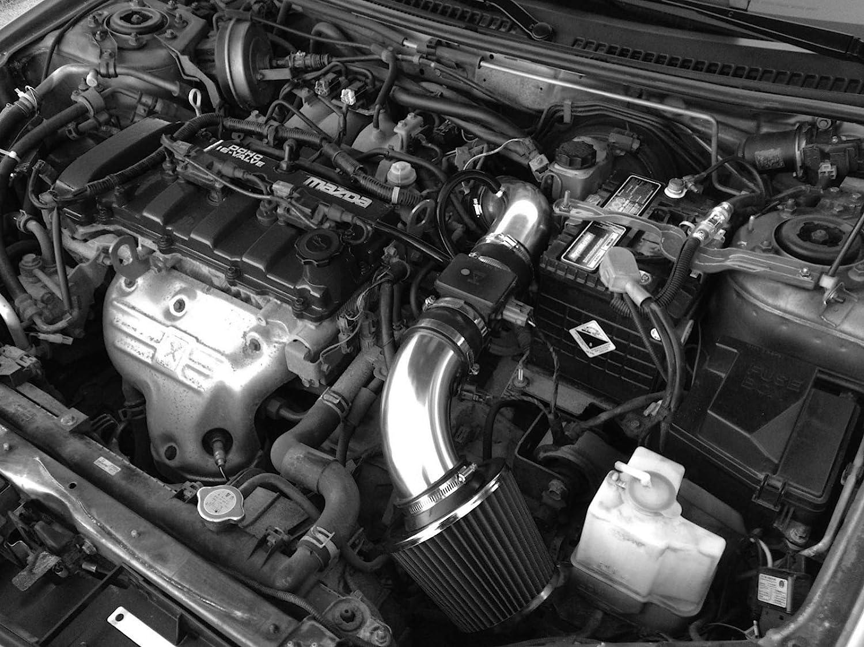 PERFORMANCE AIR INTAKE KIT FIT 1999-2000 MAZDA PROTEGE 1.8L /& 2001-2003 MAZDA PROTEGE//PROTEGE 5 2.0L NON-TURBO ENGINE BLACK