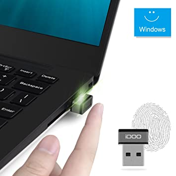 iDOO® (FIDO Certificado) Mini huellas dactilares USB lector de clave de seguridad para Windows 10 Home / Pro: Amazon.es: Electrónica