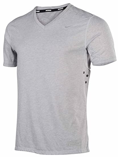 f9af0c4a56e7 Image Unavailable. Image not available for. Color  Nike Dri-fit Tailwind V  Neck Mens Running Shirt