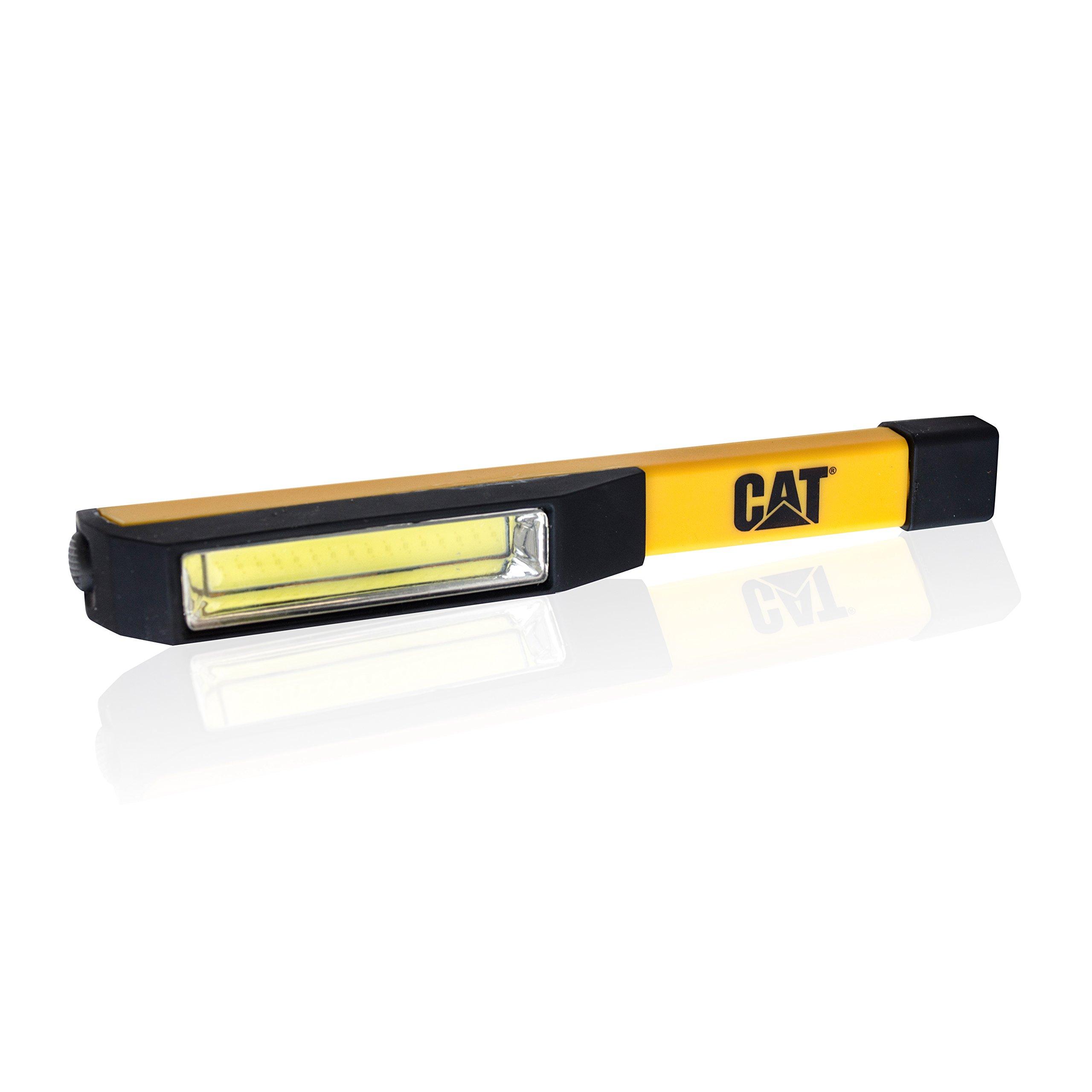 Cat CT1000 Pocket COB Light – Brilliantly Bright 175 Lumen COB LED Flood Beam Pocket Work Light, Black/Yellow