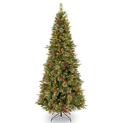 super popular 96c22 90de5 Amazon.com: 7.5' Pre-Lit Colonial Slim Artificial Christmas ...