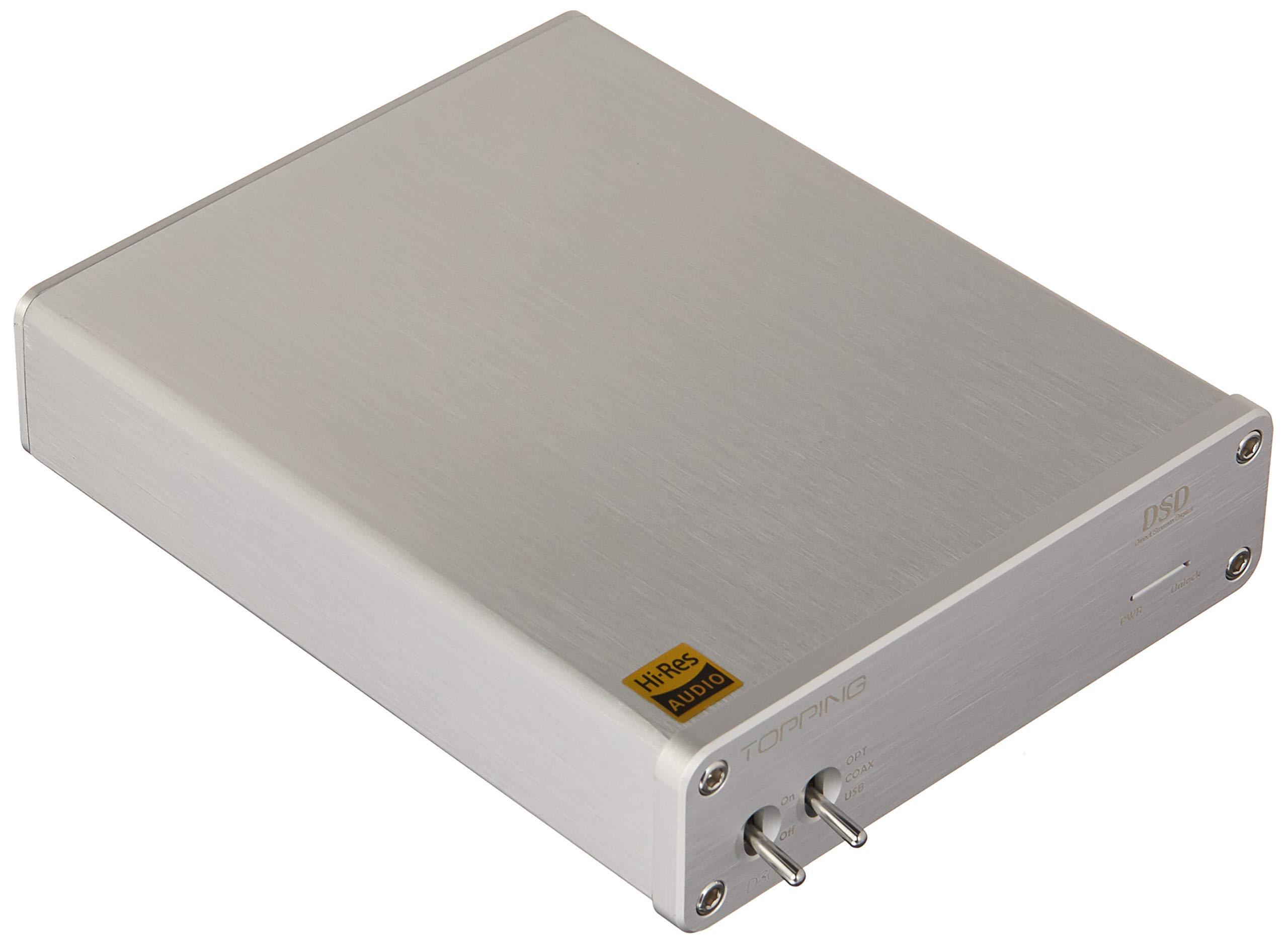 Topping D30 DSD Audio Decoder USB Coaxial Optical Fiber XMOS CS4398 24Bit 192KHz Decoder (D30 Silver) by AIMPIRE