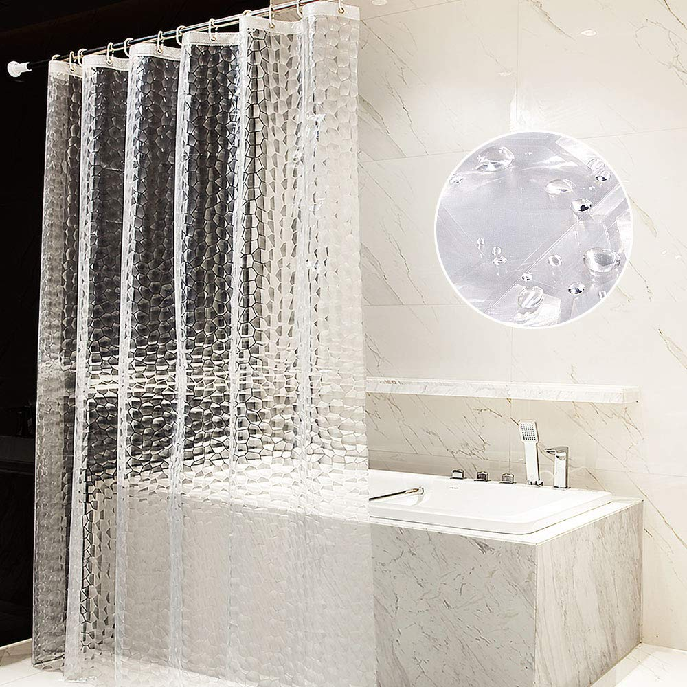 Waterproof Bathroom Curtain Shower Curtains By Eurcross EVA With Crystal Stone