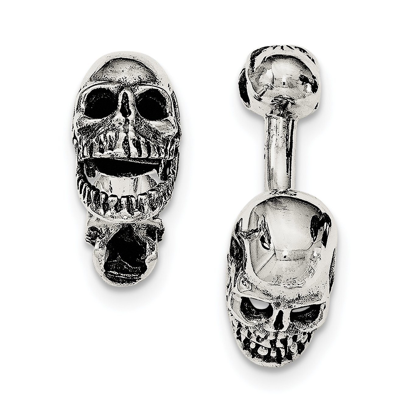 ICE CARATS 925 Sterling Silver Moveable Skull Cuff Links Mens Cufflinks Link Fine Jewelry Dad Mens Gift Set