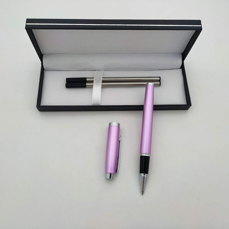 Accod regalo perfetto per famiglia e amici con due ricariche sostituibili penna a sfera alla moda per studenti in metallo confezione regalo 140MM Nero e rosso.