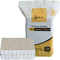 The Magnificent Bee Smoker Pellets, 108 Pack, Natural Hive Beekeeping and Beekeeper Accessories for Honey Bees, Clean and Natural Burning, Pleasant Smell for Outdoor Use   USA Brand (108 Pack)