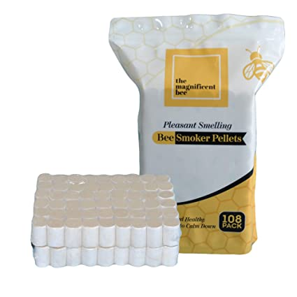 Bee Hive Smoker Pellets 108pcs Herbal Honey Bee Smoker Fuel Pellets