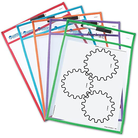 Counting Number worksheets future going to worksheets : Amazon.com : Write And Wipe Pockets : Dry Erase Worksheet : Office ...