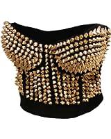 BSLINGERIE® Madonna Style Metallic Studs Bustier Bra Corset Top