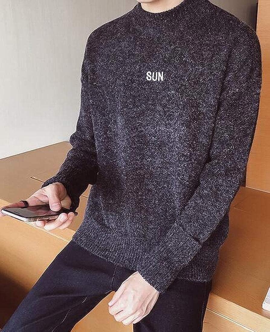 SHOWNO Mens Knitting Autumn Winter Turtleneck Slim Pullover Sweater Jumper