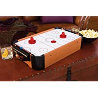 Air Hockey Game Mini Tabletop Small airhockey Play on Table for Kids Toy Battery Operated