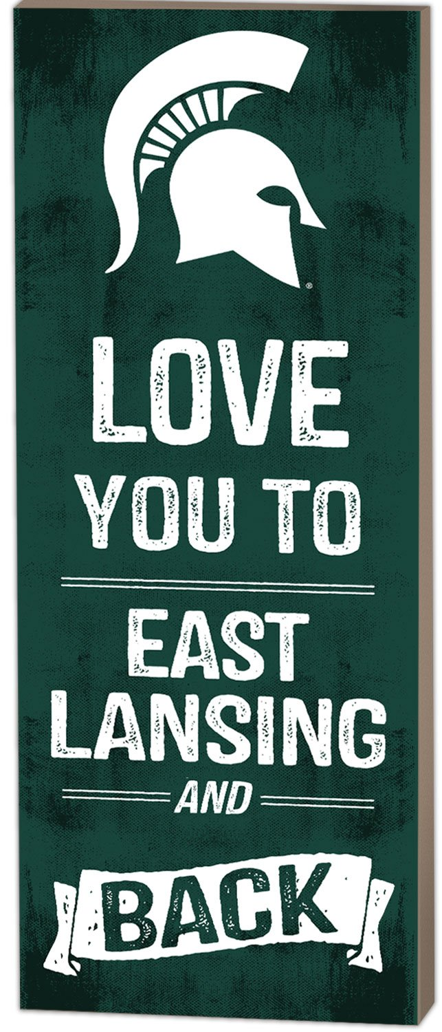 KH Sports Fan 7''x18'' Michigan State Spartans Love You to Collage Logo Plaque by KH Sports Fan