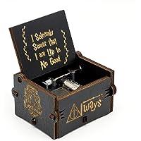 Caja de música Harry Potter, tema antiguo de Hedwig, manivelas de madera talladas a mano para cumpleaños de niños