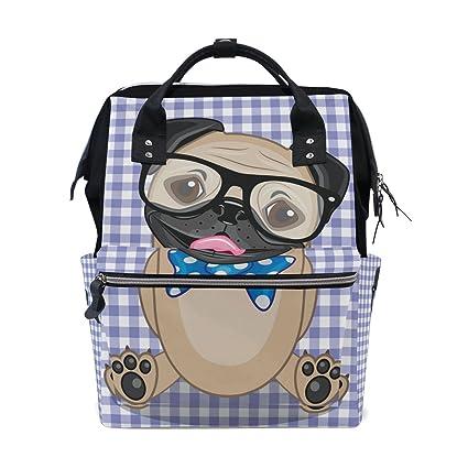 COOSUN Inconformista del perro del bar de cambio de pañales bolsa de pañales Mochila con bolsillos