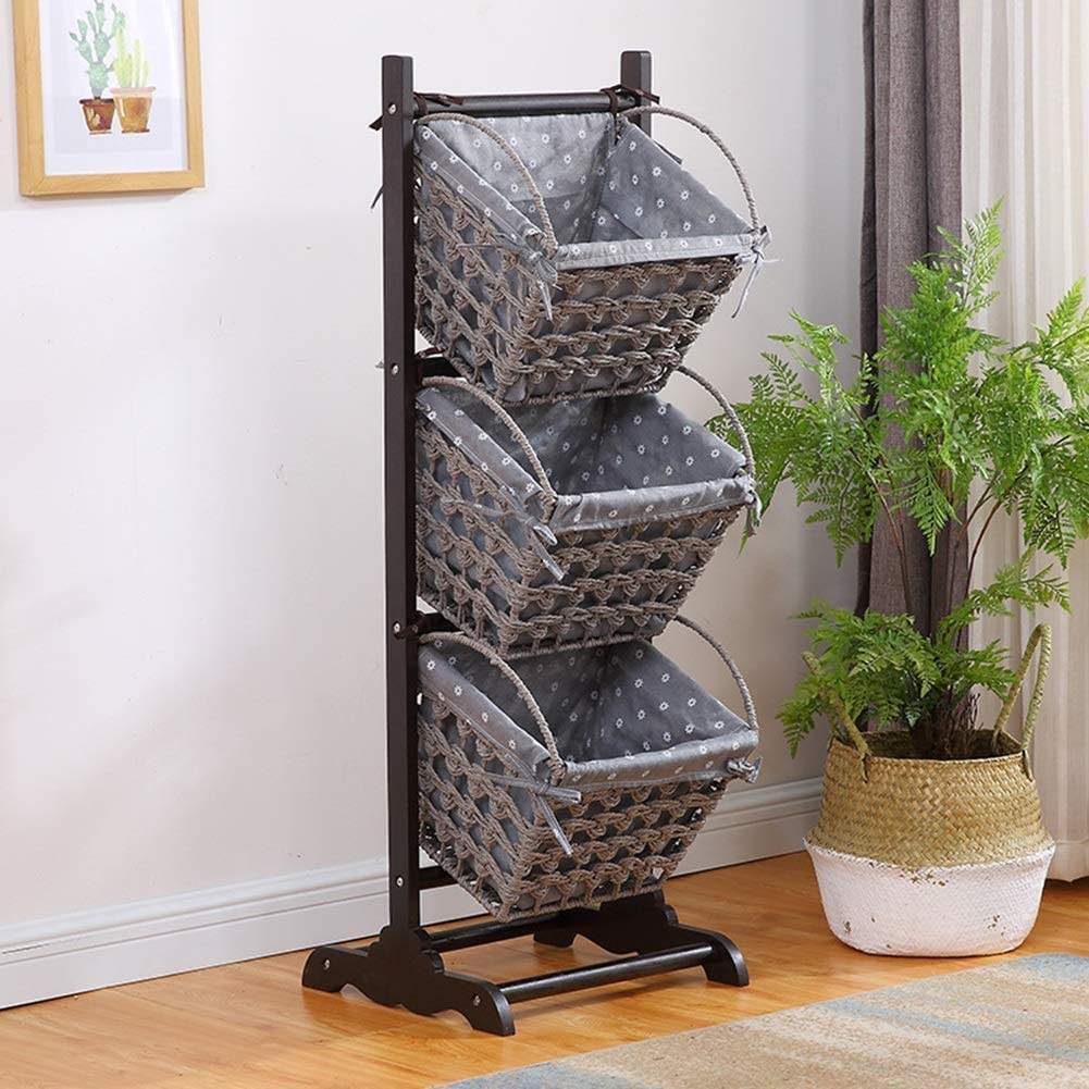 3 Tier Storage Basket Stand Stackable Kitchen Shelf For Small Space Bathroom Towel Basket Display Rack Stable And Durable Color Style 2 Amazon Ca Home Kitchen