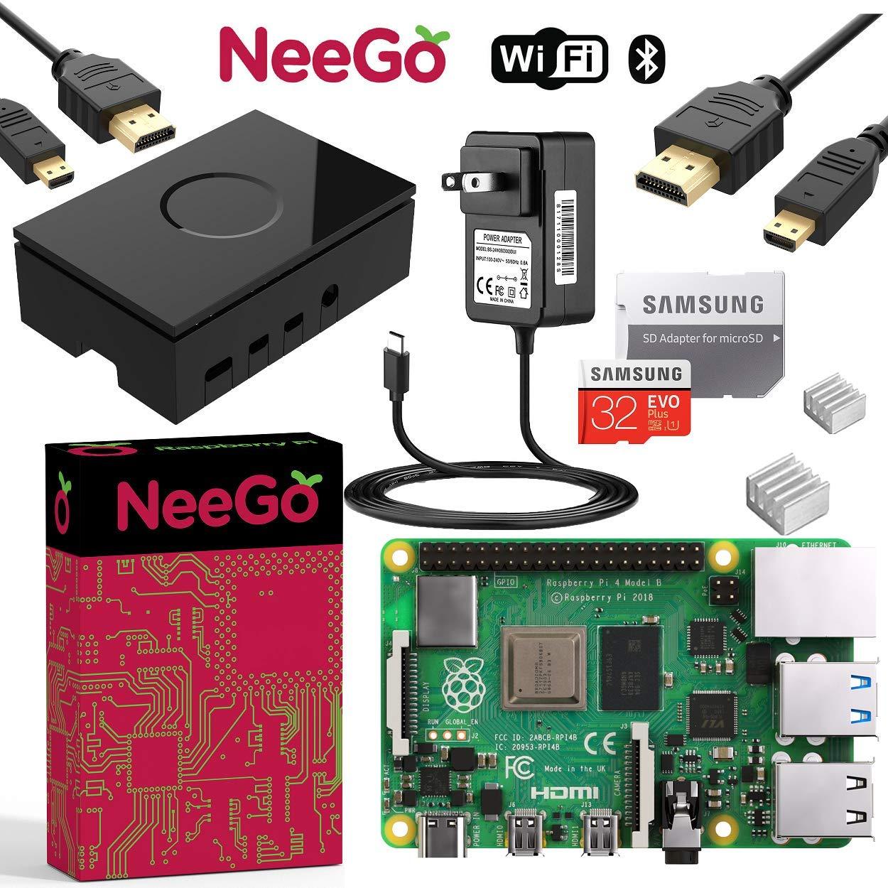 NEEGO Raspberry Pi 4 4GB Complete Kit - 4GB RAM by NEEGO