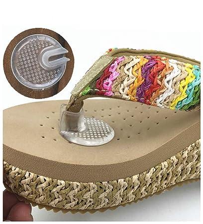 4fb24453379ee0 Amazon.com  Elandy Silicone Thong Sandal Toe Protectors-Silipos Sandal Flip-Flop  Gel Toe Guards Cushions Thong Protectors Set of 5 Pair  Home   Kitchen