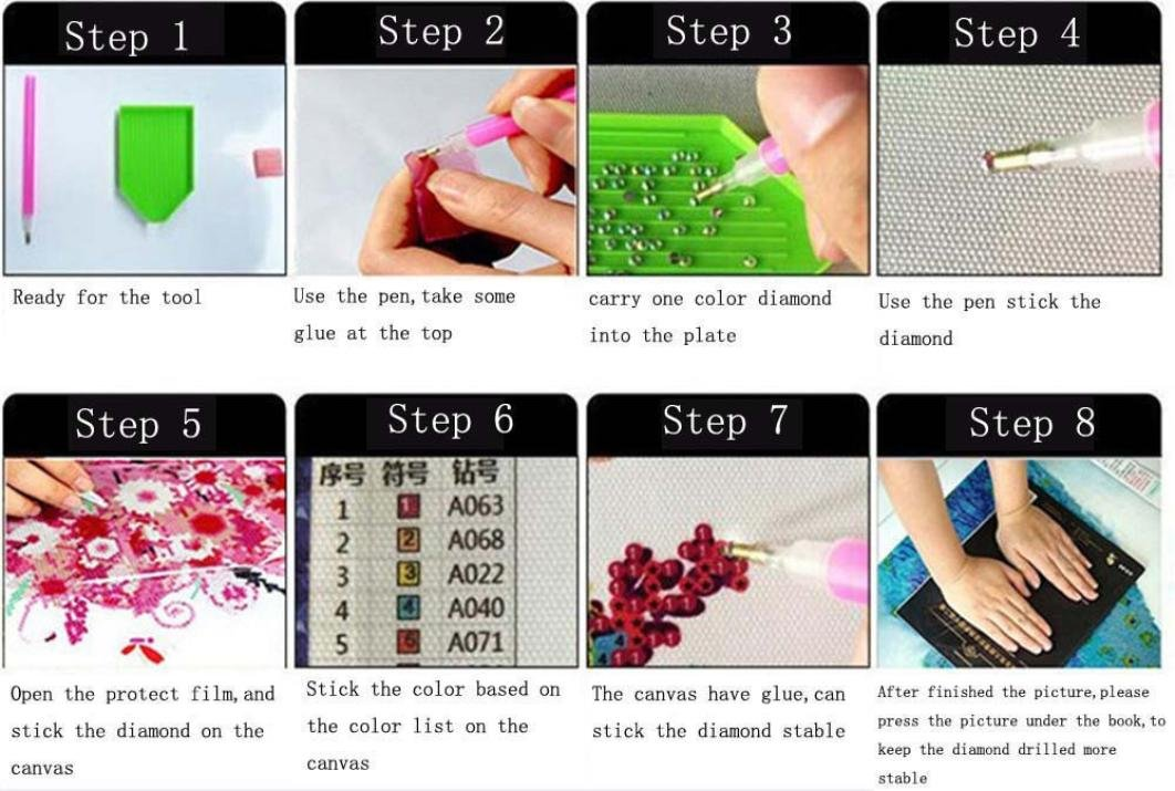 C Hot Sale Diamond Painting 5D DIY Fluorescence Flower Rhinestone Pasted Embroidery Painting Crystal Cross Stitch Home Decor Arts Craft
