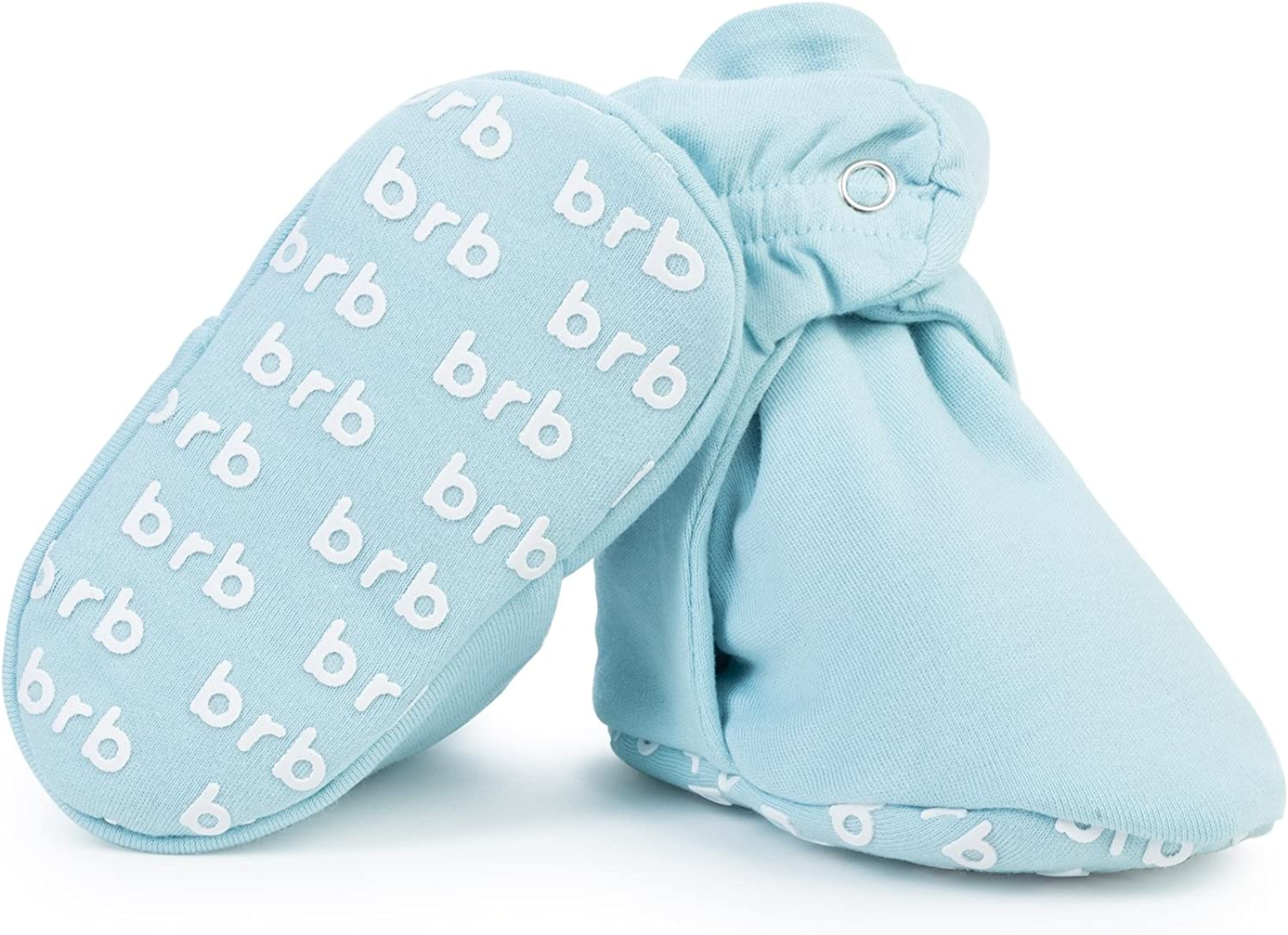 No Sock Bootie for Newborn or Infant Boys /& Girls 3 Snaps Lightweight Organic Cotton Baby Booties Grippers