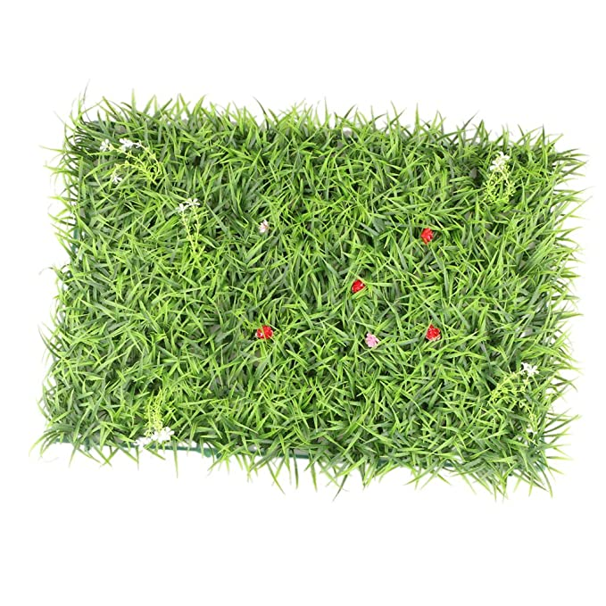 for Indoor Outdoor Wall Floor Decoration 23.62x15.75 Inch Non-brand Large Leaves Realistic Green Plant Panels Artificial Hedge Fence Privacy Screen Lawn