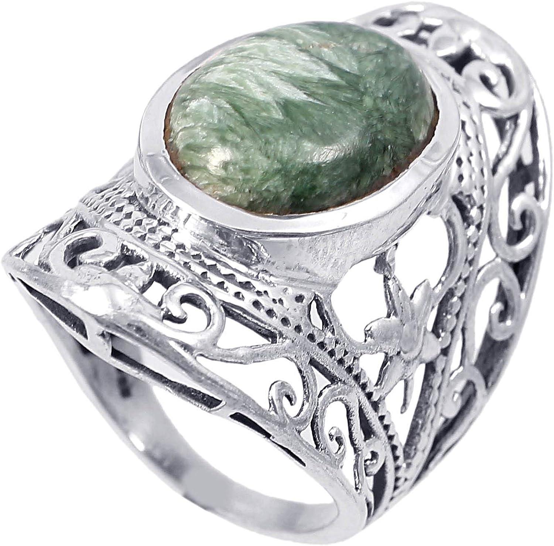Anillo de plata de ley 925 para mujer|anillo de piedra preciosa natural Jaspe|Banda de boda para las mujeres|Piedras preciosas anillo, anillo de compromiso |Tamaño del anillo 16 (R175)