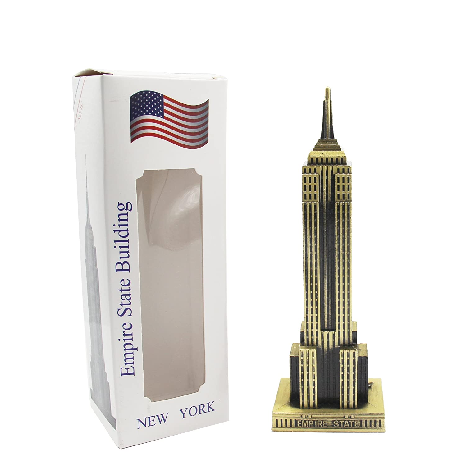 H&W 9Inch New York Statue of Empire State Building Replica Model Statue Figurine(HH2-D1)