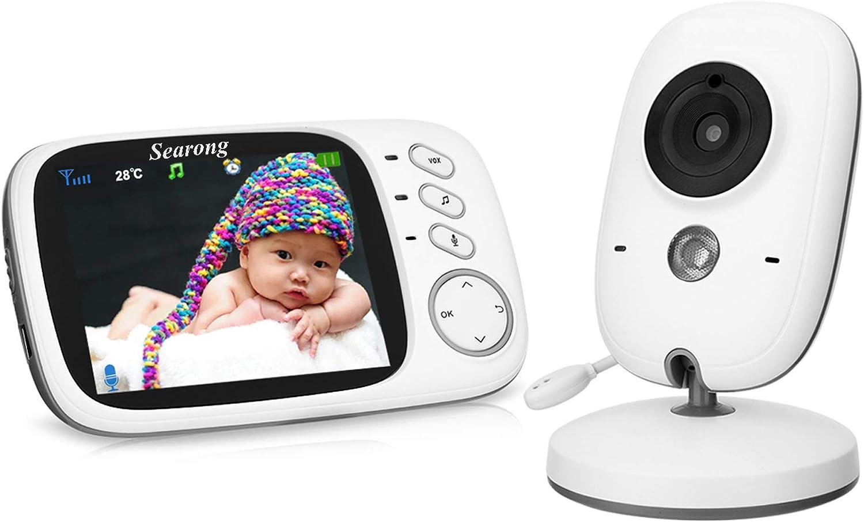 Searong Vigilabebés Inalambrico Bebé Monitor con cámara 3.2