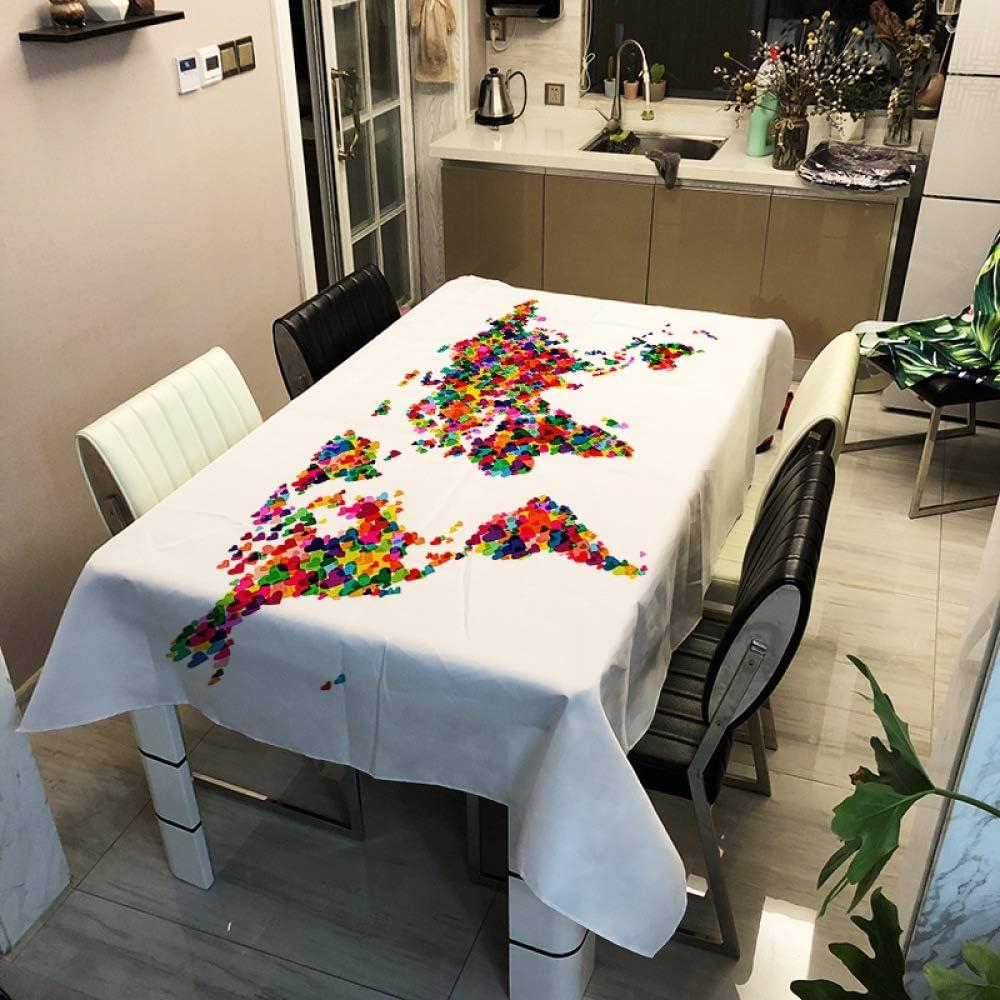 HEZESHOP Mantel Jardín Mantel Decorativo A Prueba de Aceite Grueso Rectangular Cubierta de Mesa de Boda Paño de Mesa de café 140x180cm