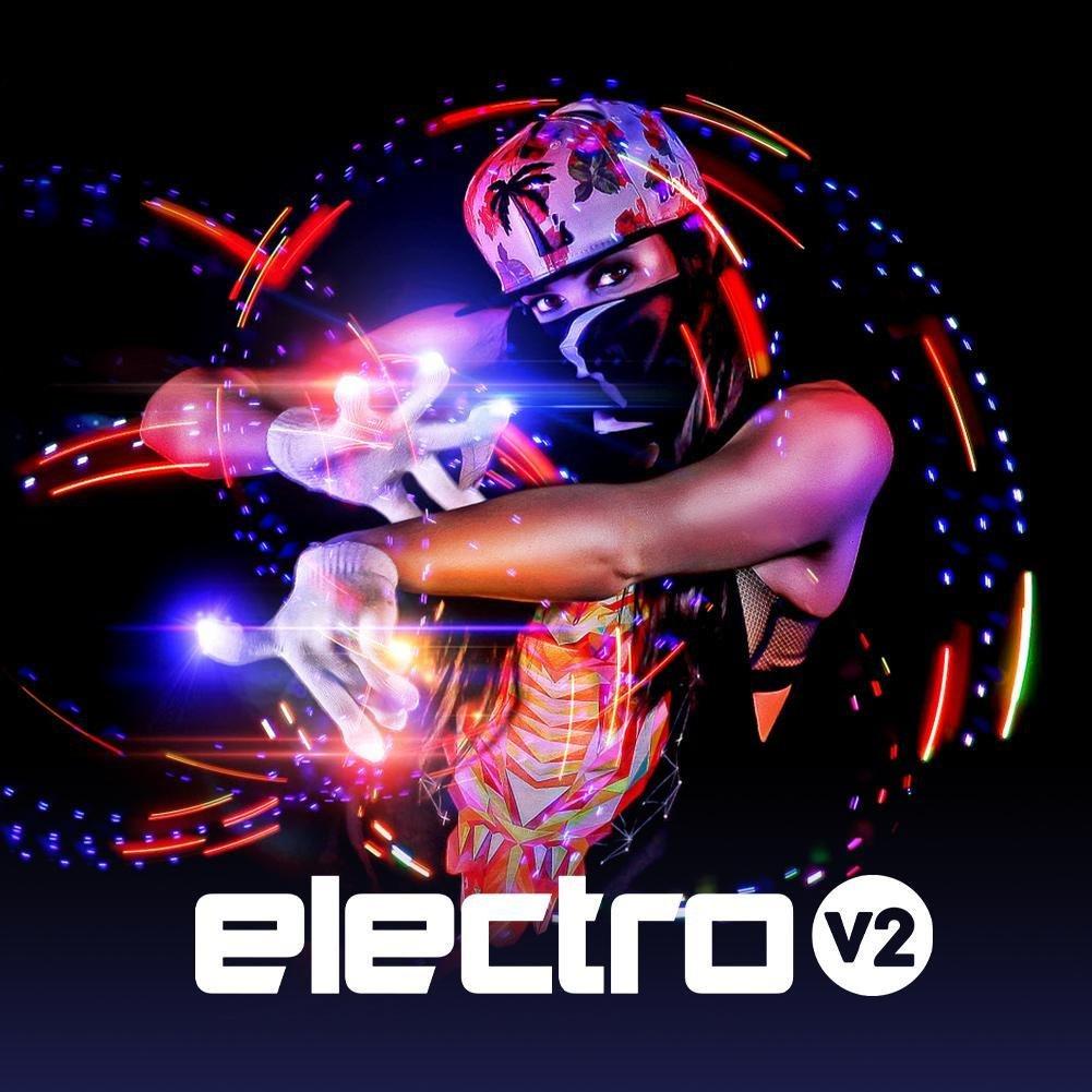 EmazingLights Electro LED Light Up Glove Set 2.0 As Seen on Shark Tank #1 Leader in Gloving Light Shows Black Gloves