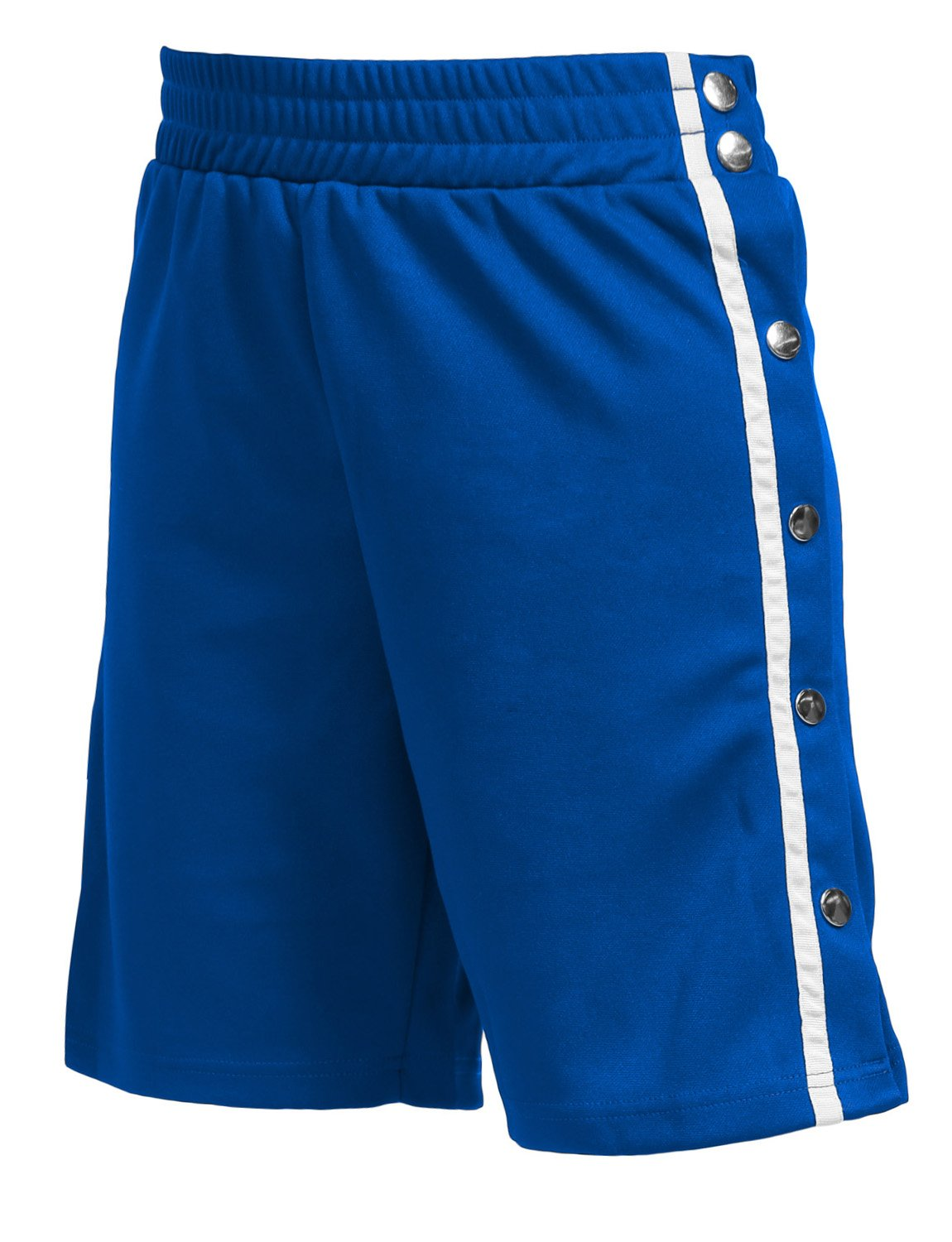 J. LOVNY Womens Simple Elastic Side Snap Button on Track Shorts Wide Leg Pants