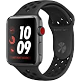 Apple Watch Series 3 (42mm) Space Grey Aluminium Watch Case 16GB GPS + Cellular with Anthracite/Black Nike Sport Band