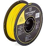 HATCHBOX 3D PLA-1KG3.00-YLW PLA 3D Printer Filament, Dimensional Accuracy +/- 0.05 mm, 1 kg Spool, 3.00 mm, Yellow
