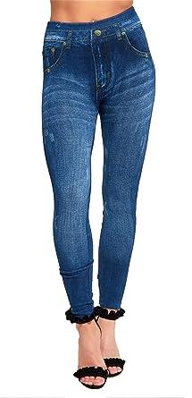 6c1fefdb5a7e3 Islander Fashions Womens Denim Jegging Legging Skinny Pant Ladies Fancy  Stretchy Trouser Pant S,M,L UK 8-14: Amazon.co.uk: Clothing