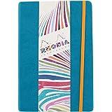 RHODIARAMA - Carnet A5 (14,8 x 21 cm) Turquoise 192 Pages - Ligné - Papier Ivoire Clairefontaine 90 g