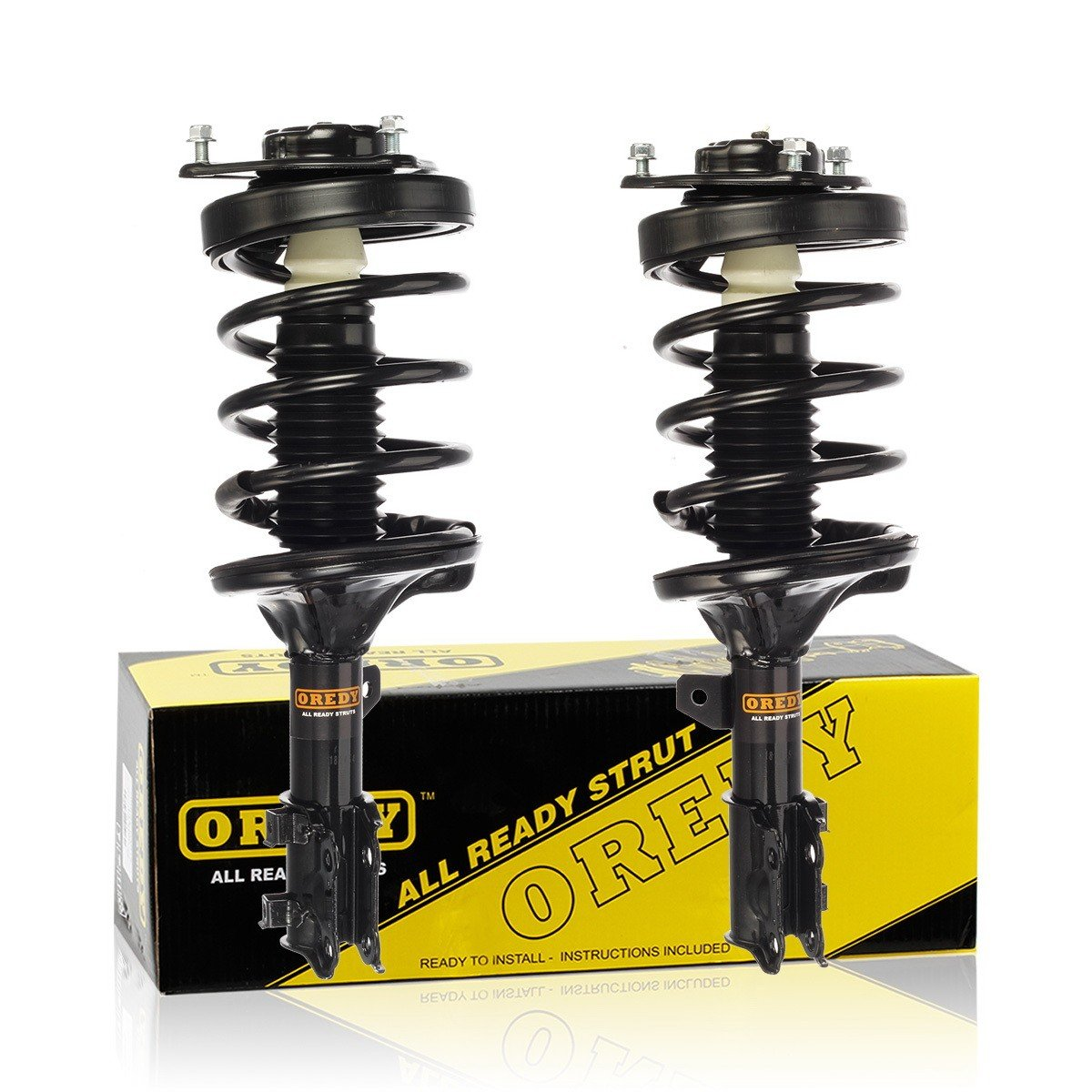 OREDY Front Left /& Right 2 Pieces Complete Shock Strut Coil Springs Assembly Kit 11112 11111 XS846147621 XS846147722 Compatible with 2003 2004 2005 2006 2007 2008 Tiburon Coupe FWD