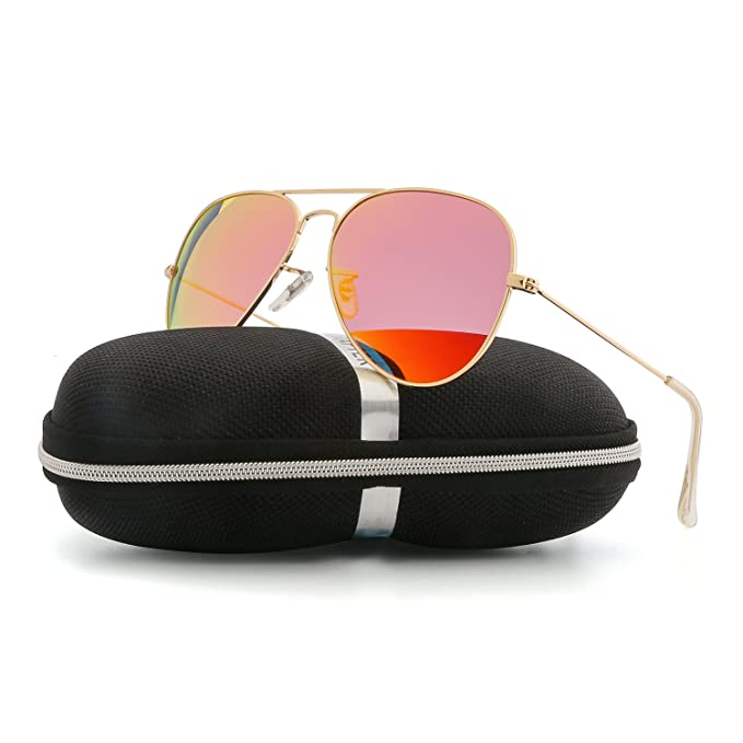 fbd2347793 Image Unavailable. Image not available for. Color  VOPOLAR Sunglasses for Women  Men Aviator Polarized Unisex Superlight UV protection Driving with sun ...