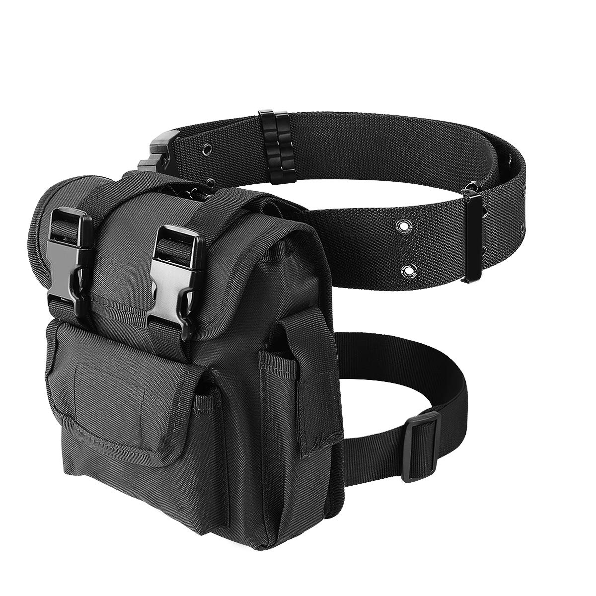 ZONE FR Leg Bag Military Tactical Pouch Drop Leg Waist Bags for Paintball Airsoft Cycling Hiking