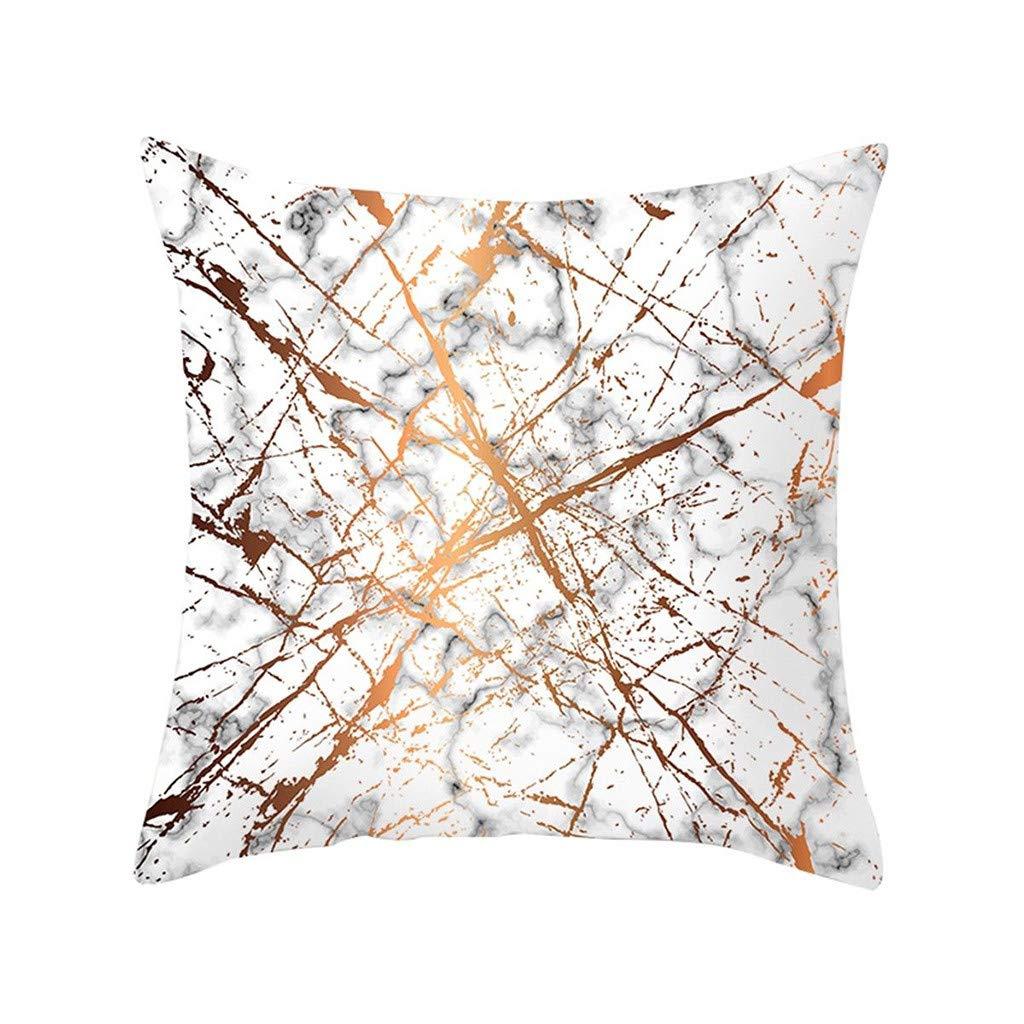 Pet1997 Multicolor Geometric Marble Texture Throw Pillow Case, Super Soft Pillowcase, Cushion Cover, Sofa Home Decor, Luxury Bedding,18 X18 Inch (B)