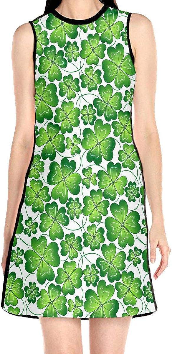 Hakalala Short Sleeve Dress Girl Dress Green Shamrock Spring Prom Cocktail Dresses for Women Girls
