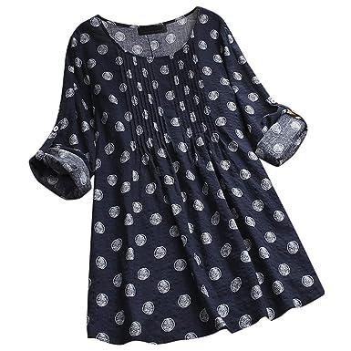 Camiseta de Mujer Invierno Rebajas, EUZeo, Otoño Sudaderas Estampadas Hawaianas Mujer Manga Larga Pullover Moda Jersey Vintage Blusas Deporte Tops Casual ...