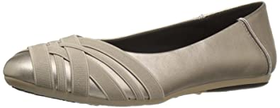 Aerosoles Women's Spin Cycle Ballet Flat, Soft Gold Combo, ...