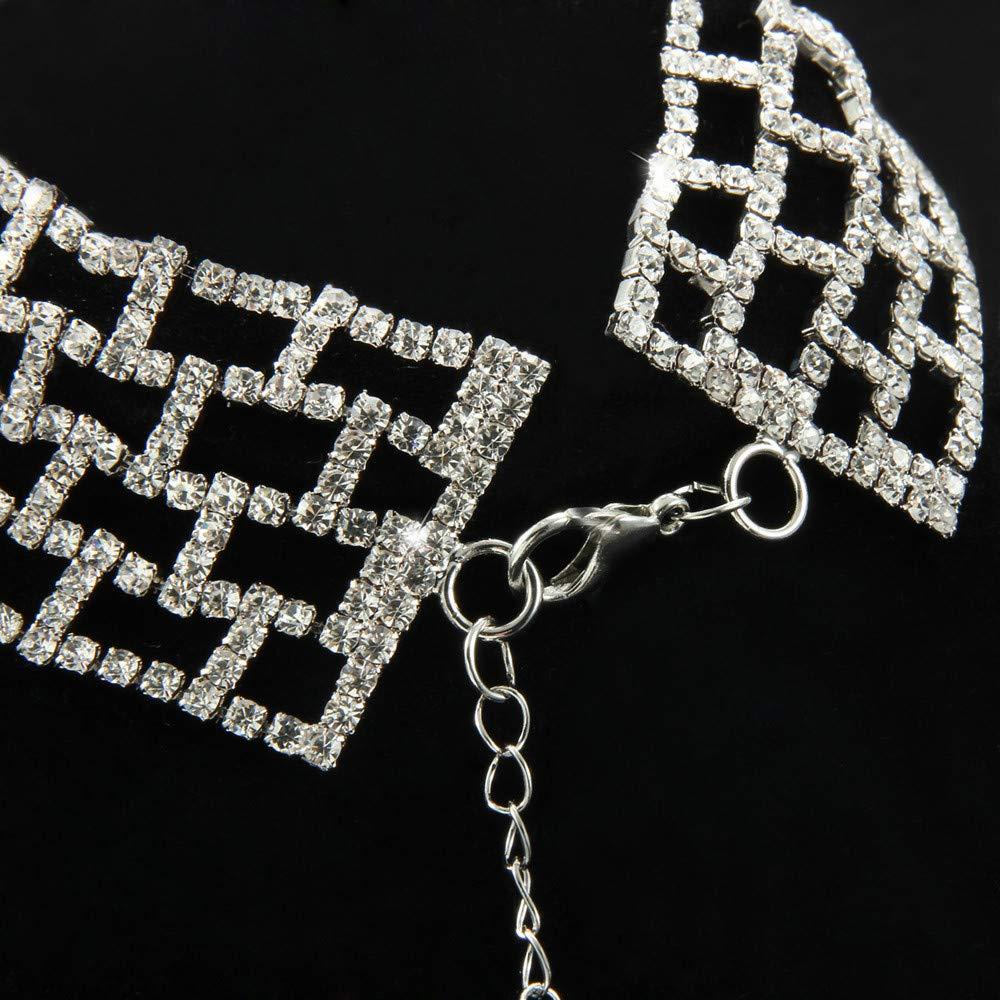 Fashion Design Chain Luxurious Choker Necklace Grid Choker Necklace