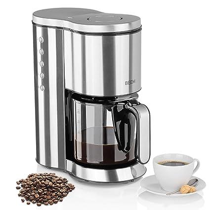 Beem Cafetera de filtro de acero inoxidable, jarra de ...