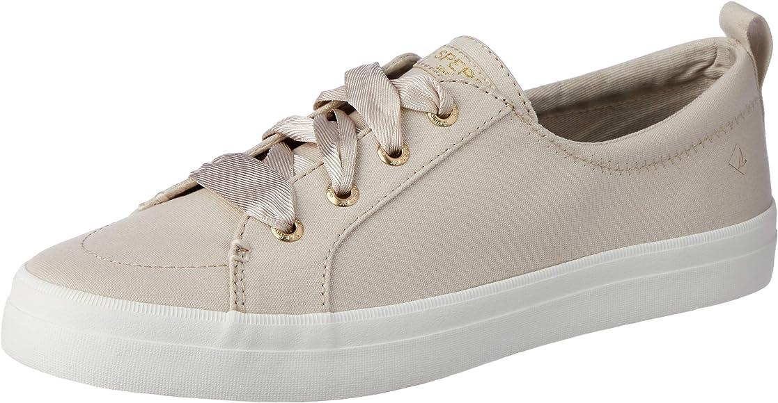 Crest Vibe Satin LACE Sneaker, Ivory