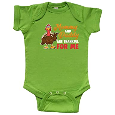 inktastic - Thanksgiving Mommy Daddy Infant Creeper Newborn Apple Green  32be6 a3379683e