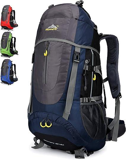 Doshwin 70L Sac à Dos Trekking Camping Voyage Randonnée Grand pour Homme  Femme